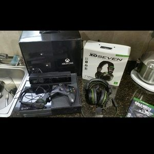 Other - Xbox one Xo seven headset, 3 games (system sold)