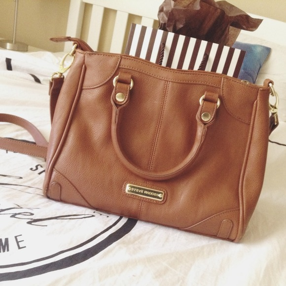 58% off Steve Madden Handbags - Steve Madden Cognac Satchel from ...