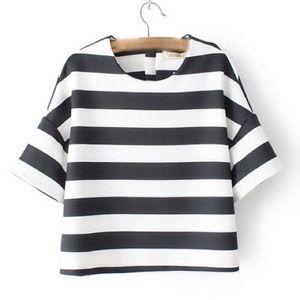 Tops - Black Cotton Blends T-shirt