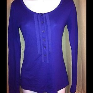 Purple ruffle top