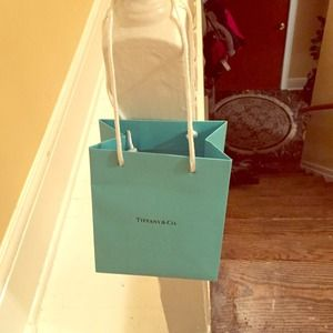 Empty Tiffany and co. Bag and box