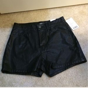 UO BDG vegan high rise fake leather shorts 25