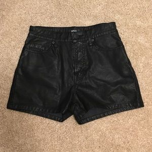 UO BDG vegan high rise faux leather shorts 25