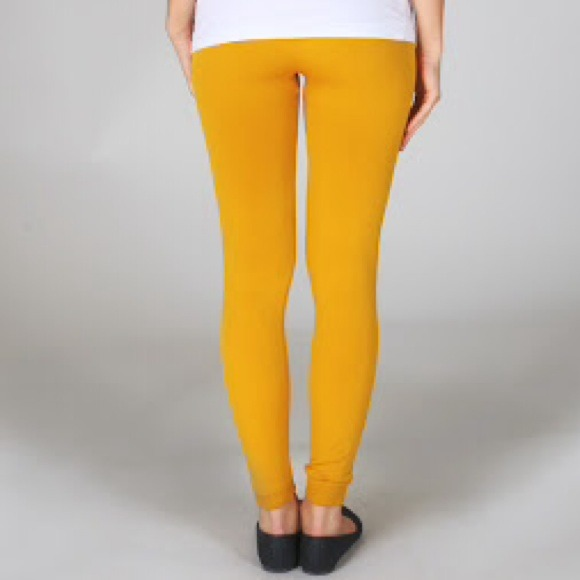 Yellow leggings aren't professional