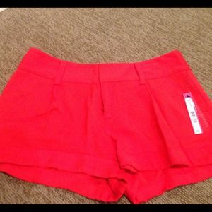 Alice and Olivia Cherry Red Shorts