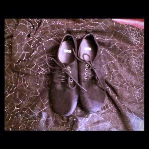 ASOS black platform shoes