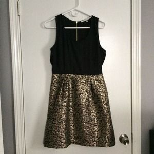 Collective Concepts Dresses & Skirts - Sale! - Black and Gold Dress