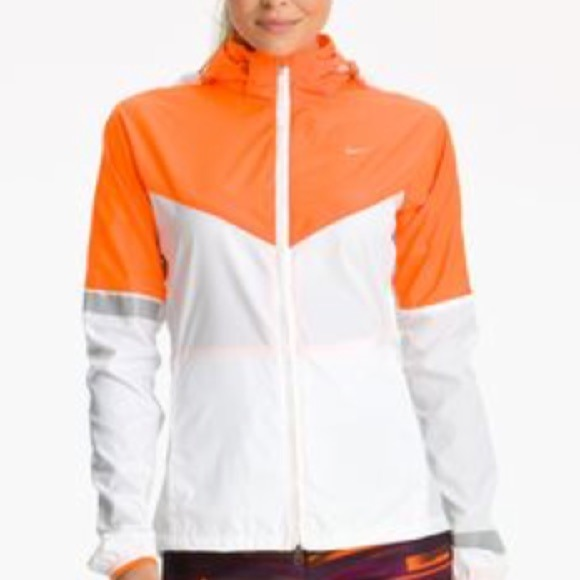 80% off Nike Jackets & Blazers - Nike Women's Orange/White ...