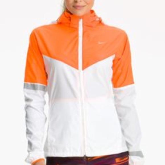 80% off Nike Jackets & Blazers - Nike Women's Orange/White ...