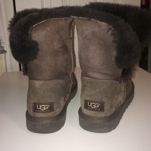 brown uggs with buttons
