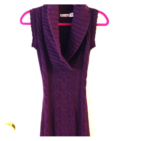 75% off Body Central Dresses & Skirts - Purple🔮Sleeveless Sweater ...