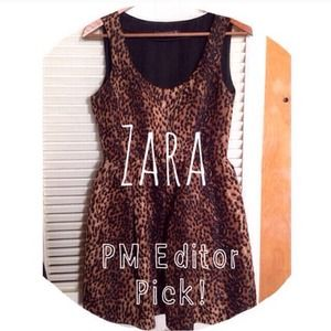 Zara Leopard Print Party Dress