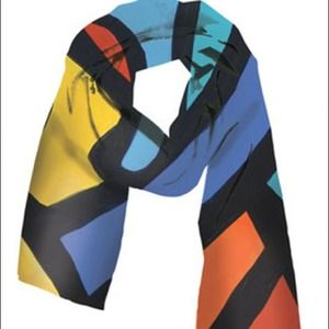 Colorful silky scarf from Vividly