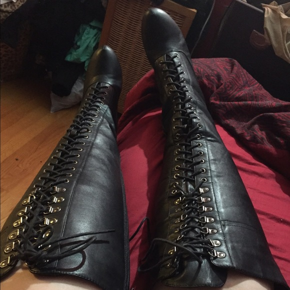 75 torrid boots wide calf knee high lace up