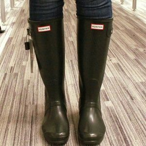 Hunter Original Tall' Rain Boot Sz 6US