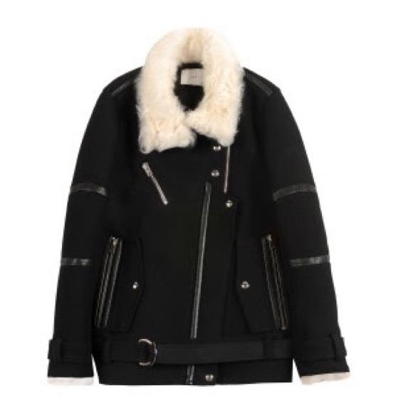 Iro Style Fur Biker Black