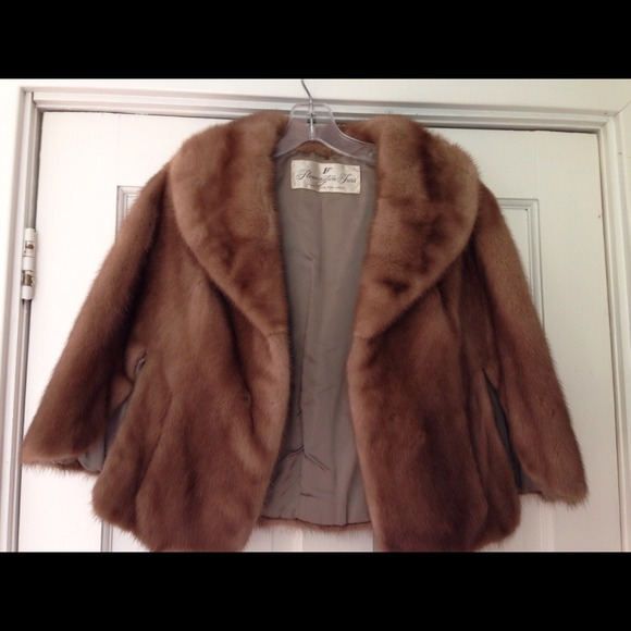 65 Off Flemington Furs Jackets Amp Blazers Vintage Style Real Fur Autumn Haze Mink Coat Stole