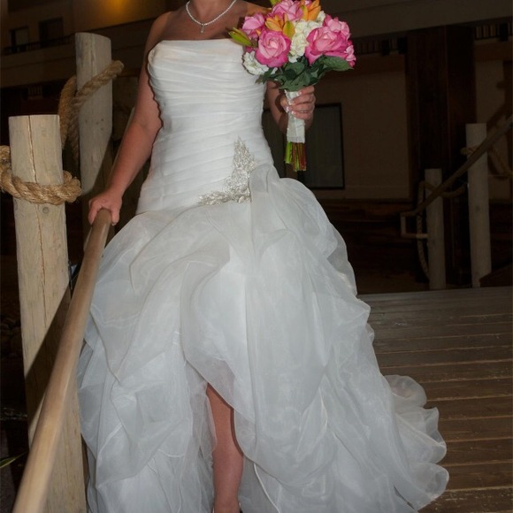 63 off david 39 s bridal dresses skirts galina signature for High low wedding dress davids bridal
