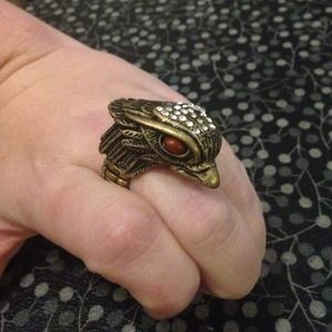 Jewelry - Bronze Tone Thunderbird Stretch Ring