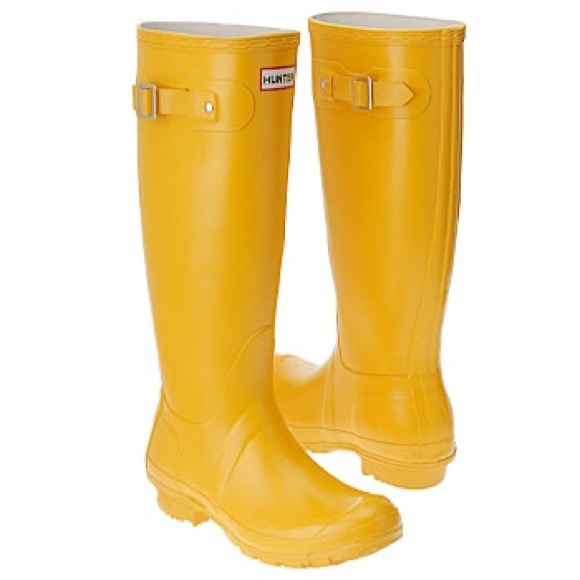 50% off Hunter Boots Shoes - Yellow Hunter Rain boots, women's ...