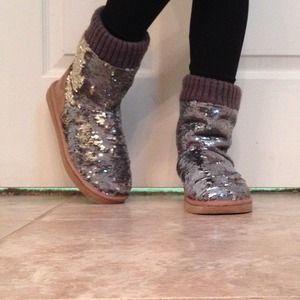 VS PINK Sequins Boots