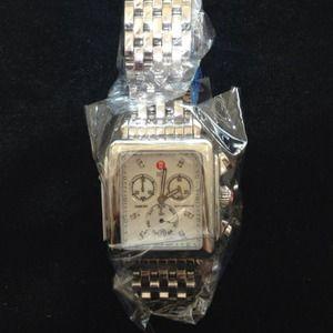 Michele Accessories - Michele deco diamond dial jumbo watch