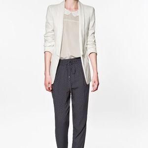 White Jacquard Zara Blazer