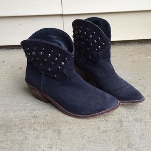 Boots - Navy Blue Cowboy Booties!