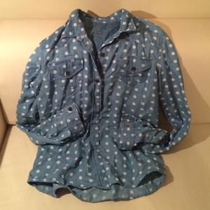 Tops - Polka Dot Chambray!