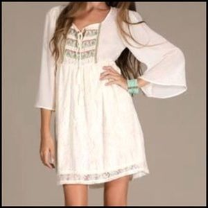 Flying Tomato Dresses & Skirts - 🎉🎉HP🎉🎉 Boho Chic Ivory Dress(Last One)