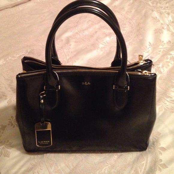 cead1fe924 ✨Ralph Lauren Blk Patent Leather Satchel✨. M 54599ed193c636416103c6b3.  Other Bags ...