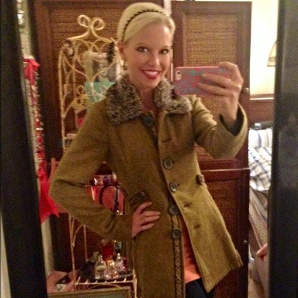 78% off Free People Outerwear - Free people tweed and fur coat