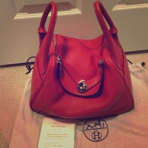 8% off Hermes Handbags - 100% authentic Hermes Lindy 30 Red w Q ...