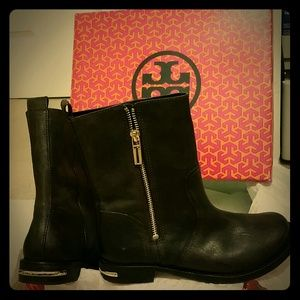 TORY BURCH ELYSE BOOTIE  - DISTRESSED LEATHER