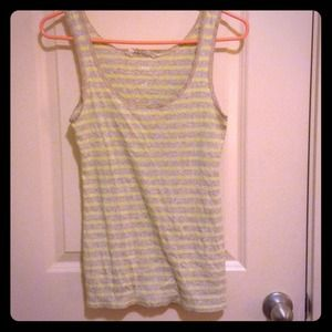 Yellow and grey tank top