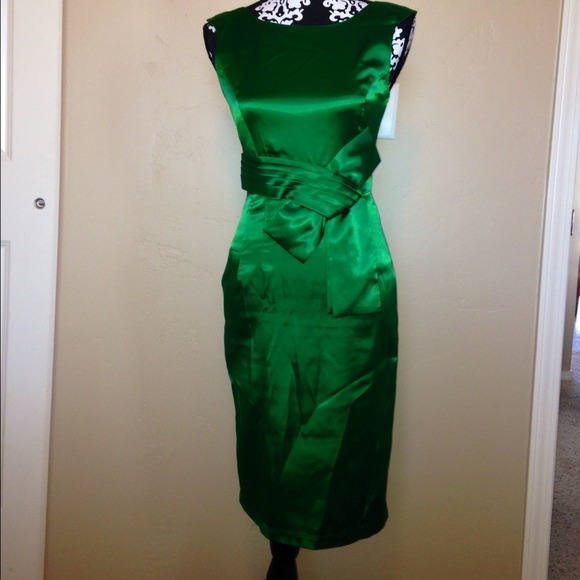 18% off Charlotte Russe Dresses & Skirts - Sleek emerald green ...