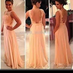 Gorgeous peach prom dress