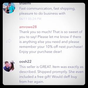 Tiffany & Co. Other - Feedback! Another 3 Five Star Ratings!