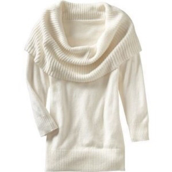 76% off Express Sweaters - Express white cowl neck/off the ...