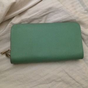 Mint double zipper wallet