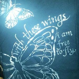 """Other - 🔴""""With these wings I am free to fly."""" Hoodie"""
