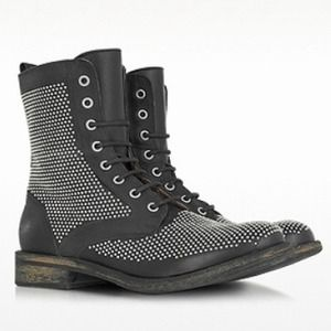 Lemare Italy unisex studded biker boots 6.5