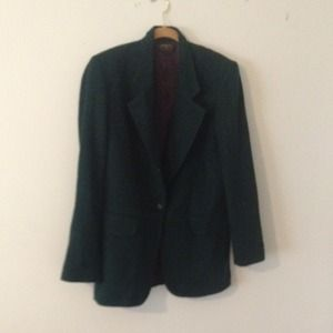 Vintage & Oversized Forest Green Blazer