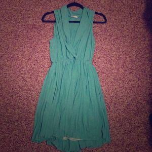 Flirty Seafoam Green Pleated Dress