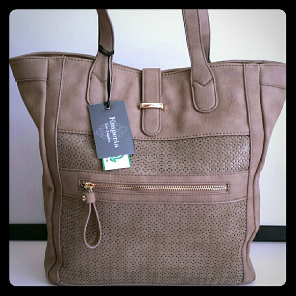 9af9f83a71 Large Tote Handbag - Taupe Color