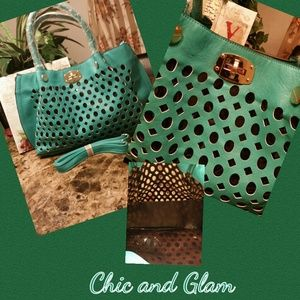 SOLD Large Cute and Sassy Teal Hobo