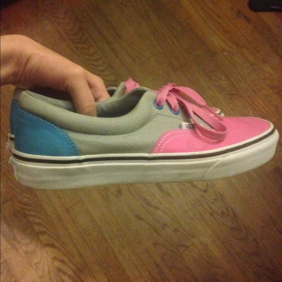 Vans Shoes | Pink Gray And Blue Vans