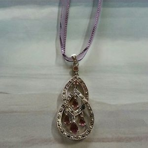 Monet Jewelry - Purple ribbon necklace