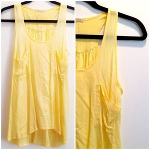 Tops - Butter Yellow Tank Top Blouse