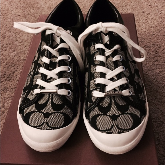 44 coach shoes coach black white sneakers